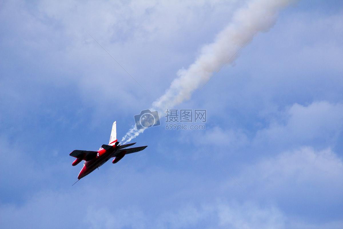蓝天上的飞机摄影图片照片免费下载