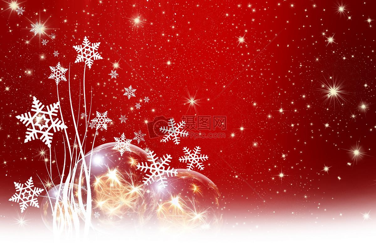 红色背景雪花图案