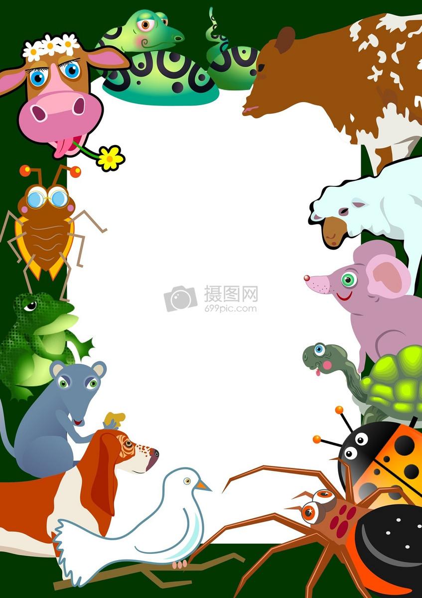 ppt背景图 简笔画动物