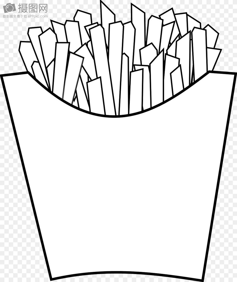 薯条简笔画 步骤