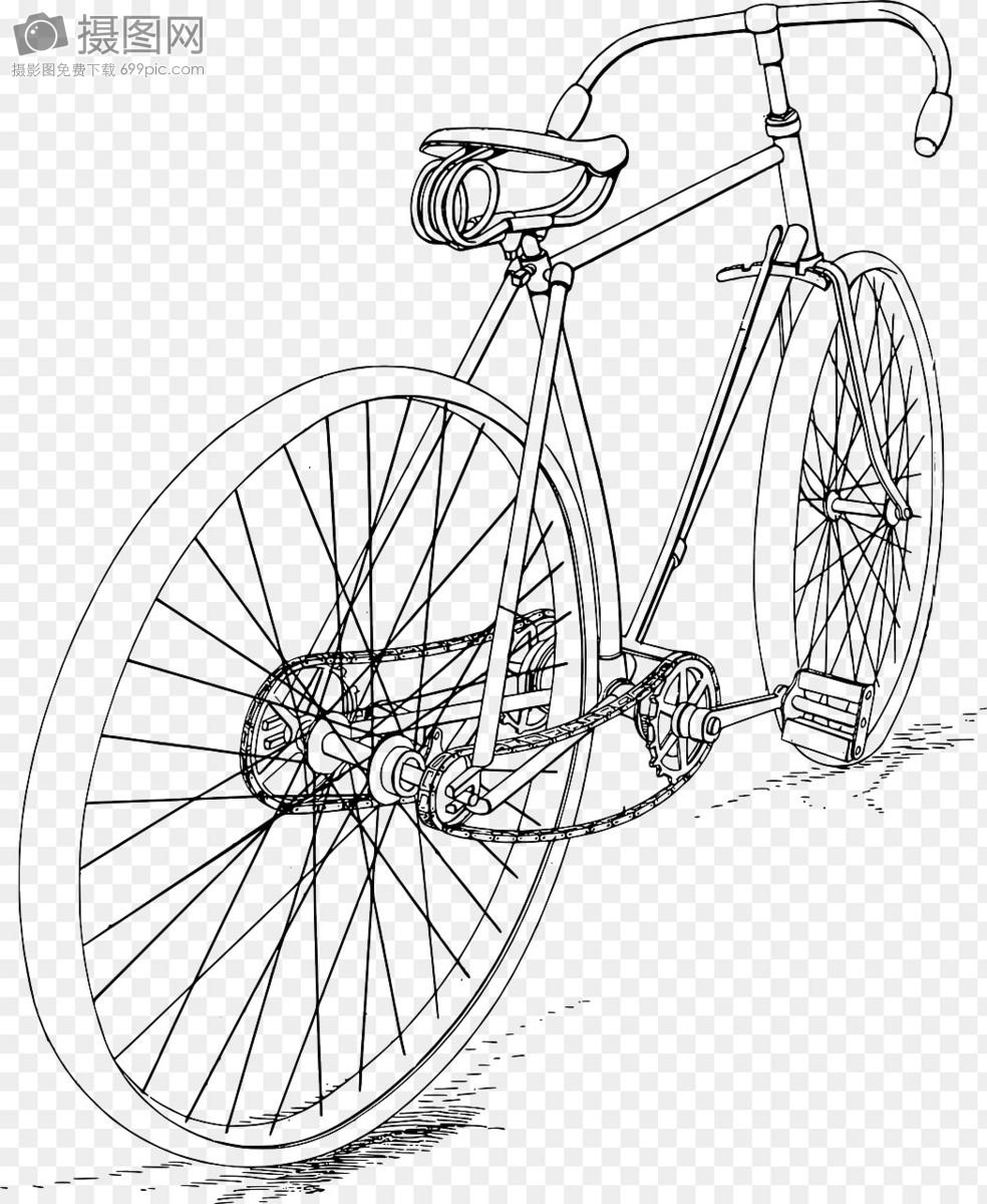 单车怎么画简笔画