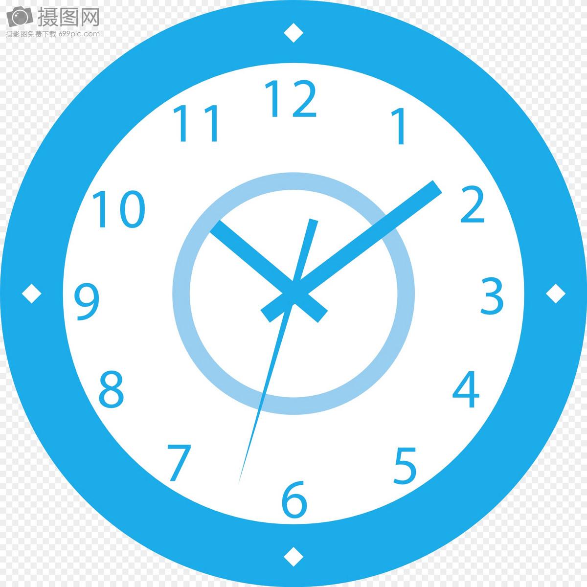 蓝色电子钟表