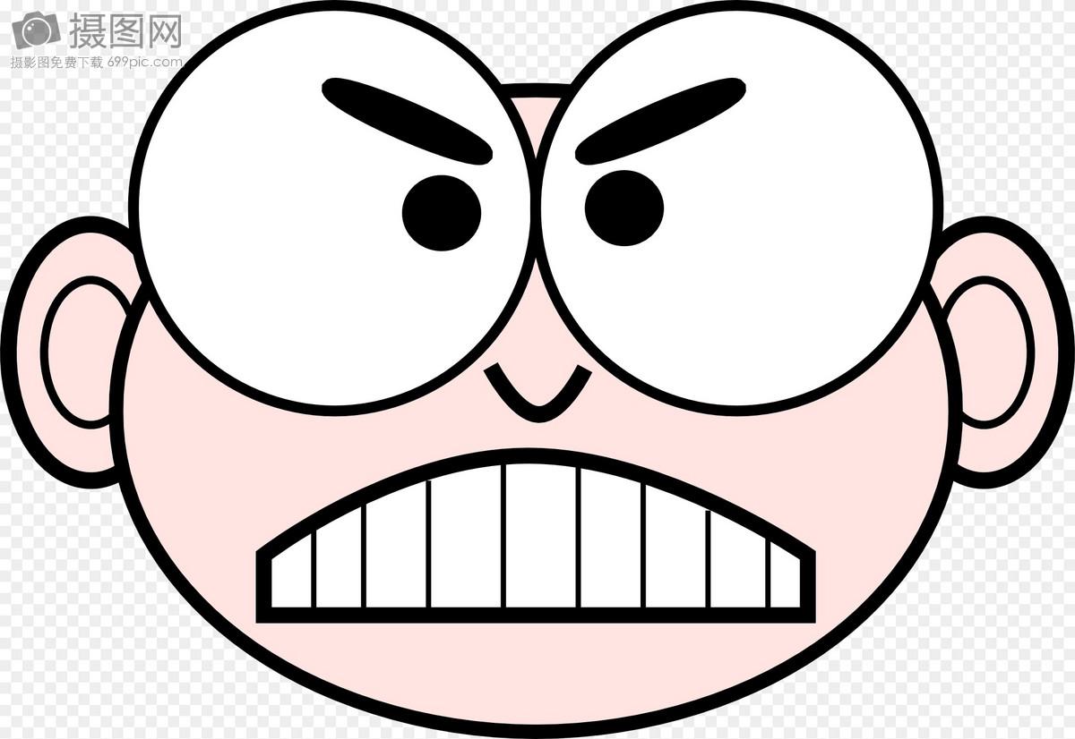 脸, 卡通, 愤怒