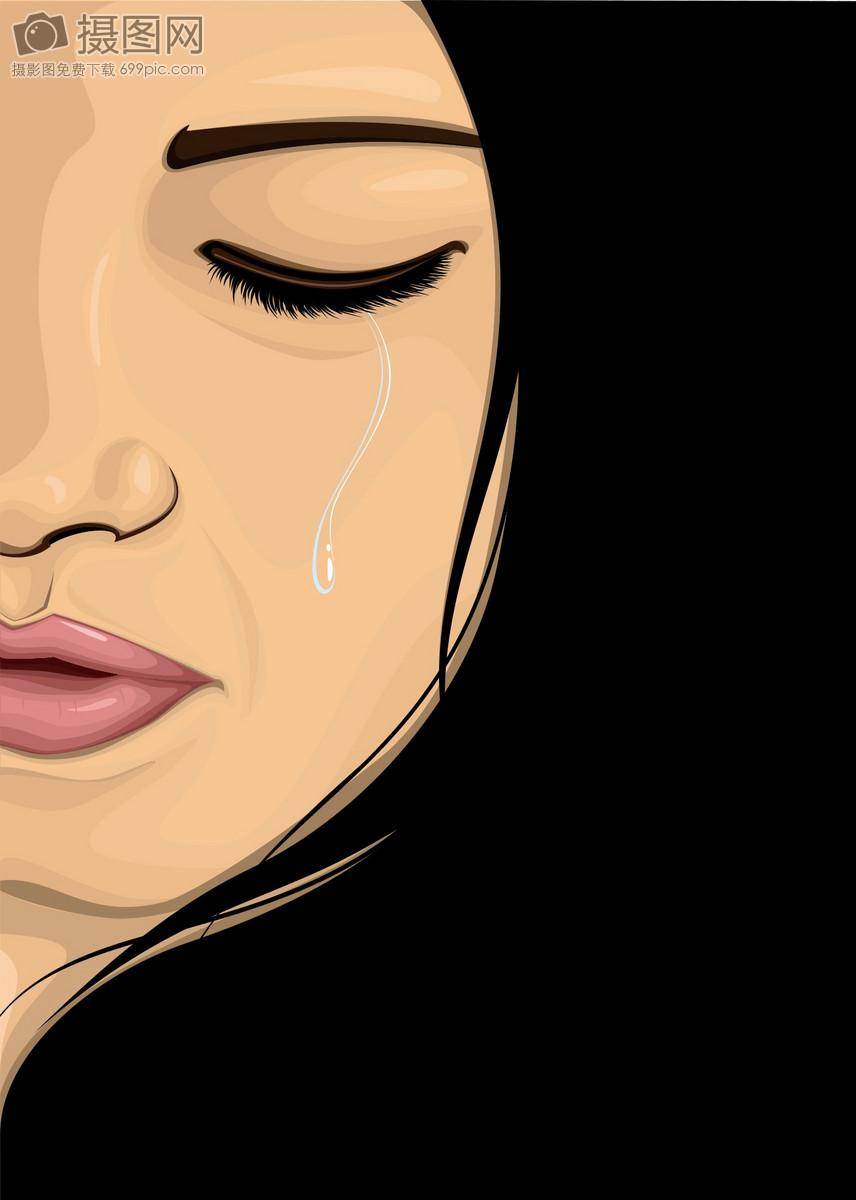 动画哭的图片可爱