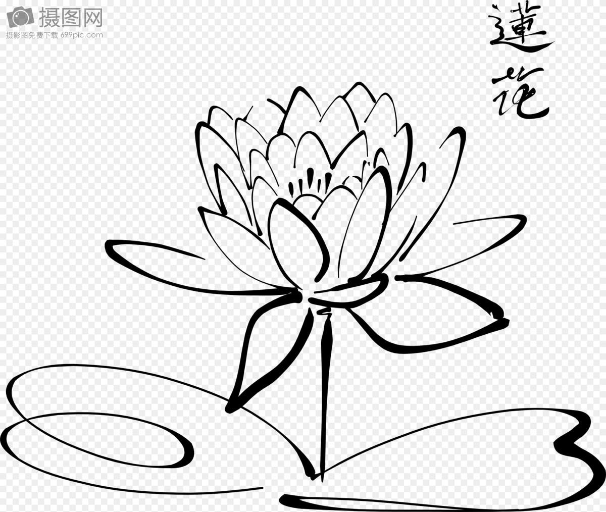 D Line Drawings Logo : 黑色简笔莲花图片素材 免费下载 svg图片格式 高清图片 摄图网