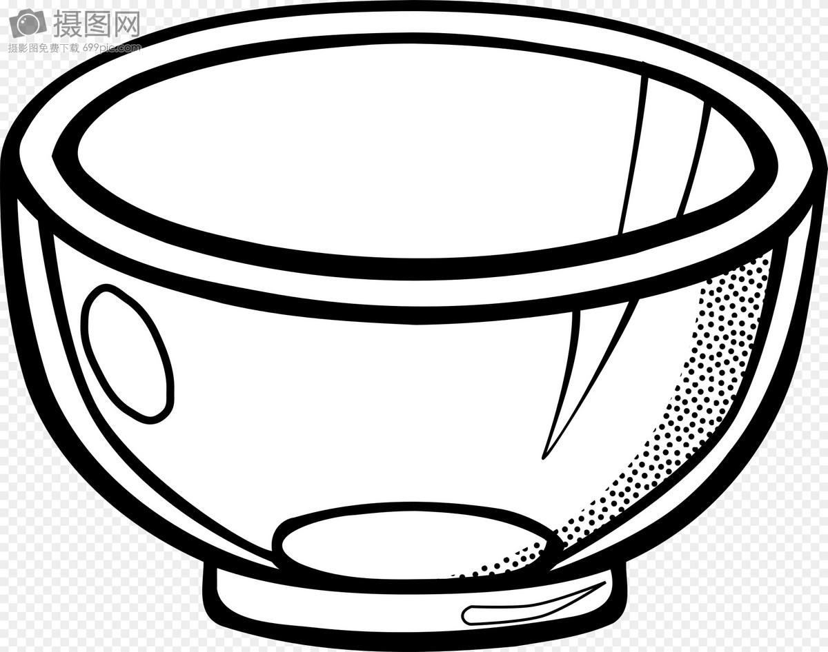黑白碗图片素材_免费下载_svg图片格式_高清图片400013138_摄图网