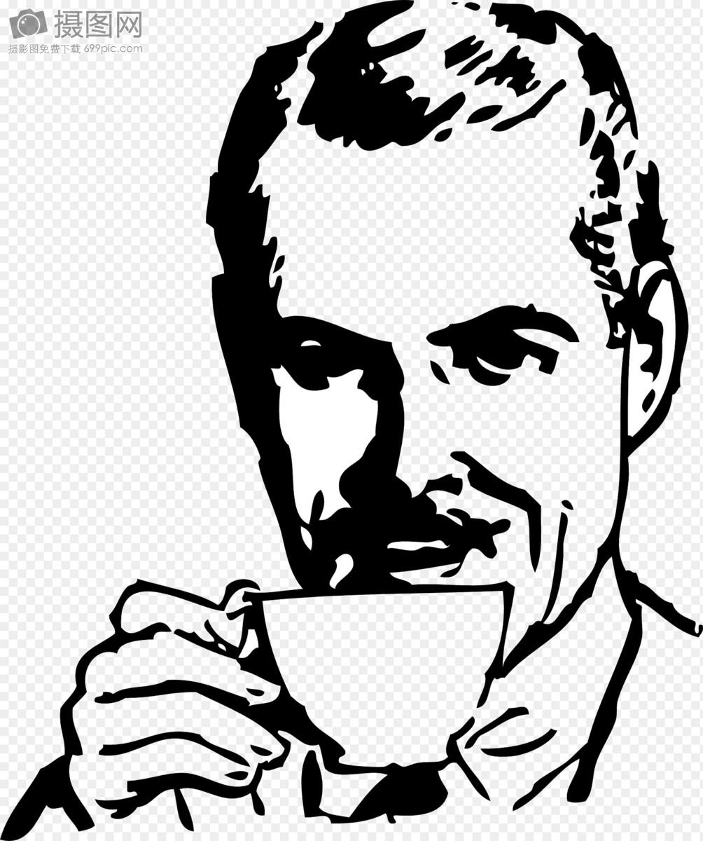 喝咖啡的男人图片素材_免费下载_svg图片格式_高清_摄