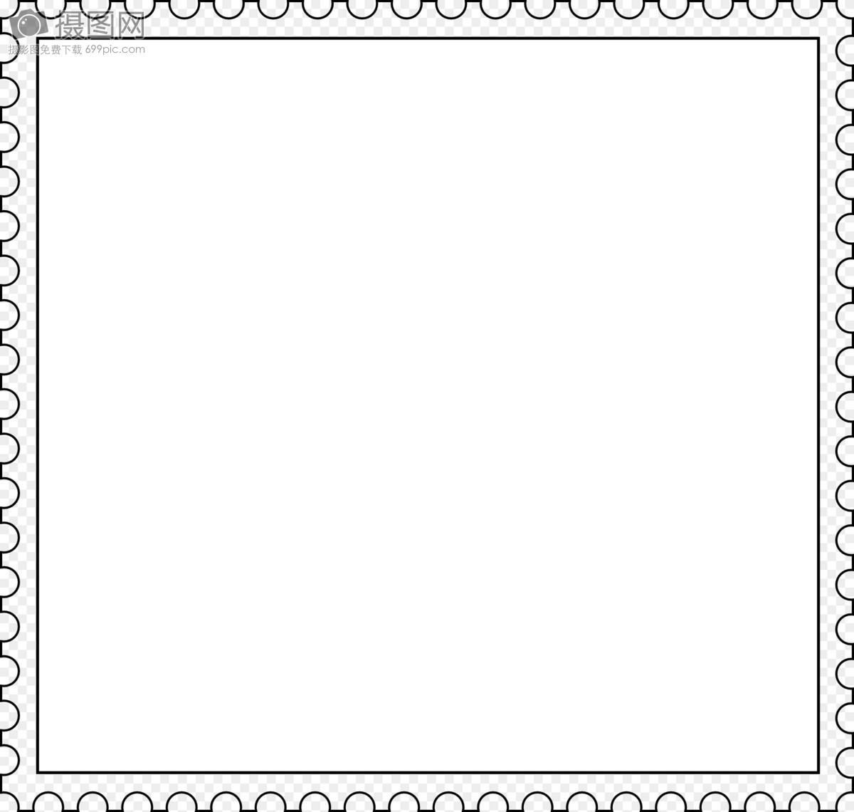 白色邮票边框图片素材_免费下载_svg图片格式_高清_摄