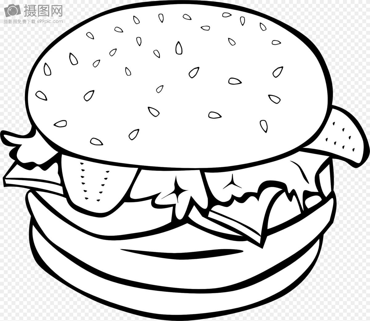 手绘汉堡图片大全
