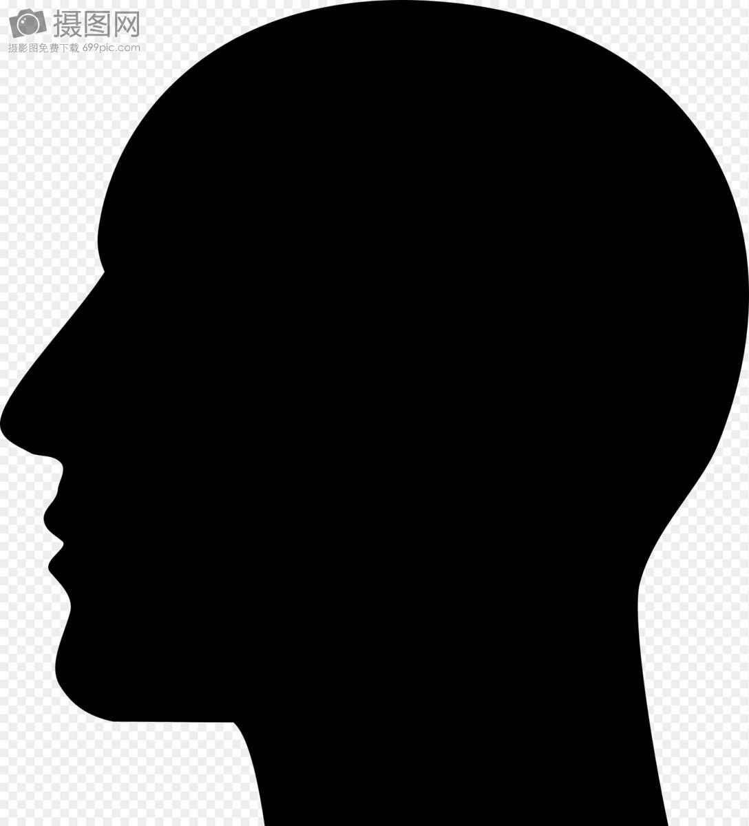 黑色的头像侧脸图片素材_免费下载_svg图片格式_高清图片400014880_摄