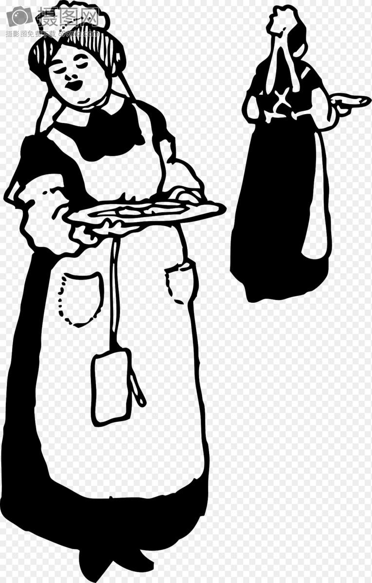 端着晚餐的女服务员图片素材_免费下载_svg图片格式