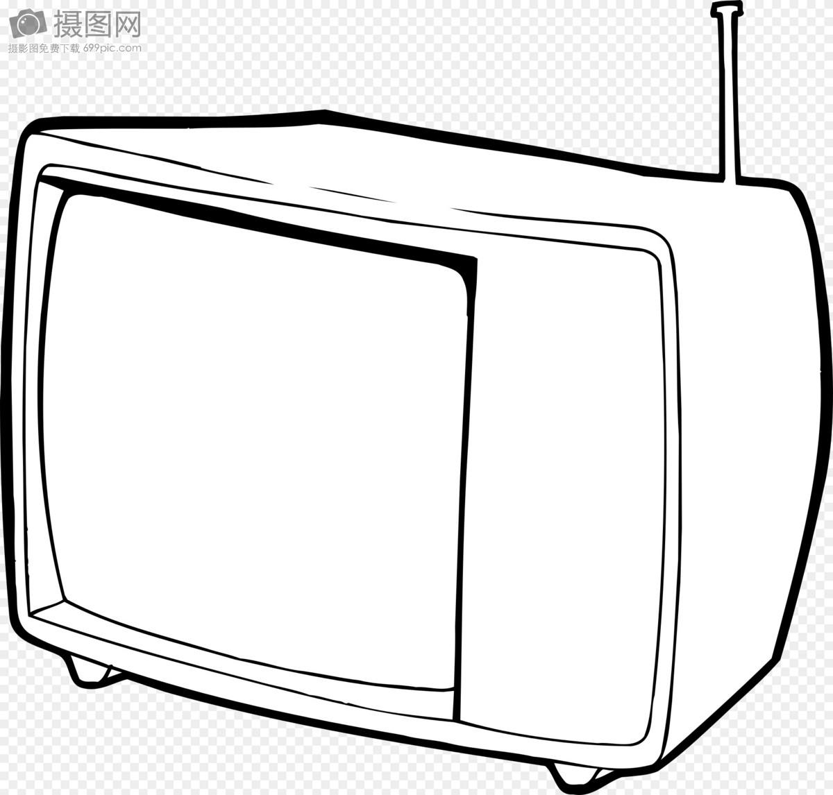 电视简笔画 可爱