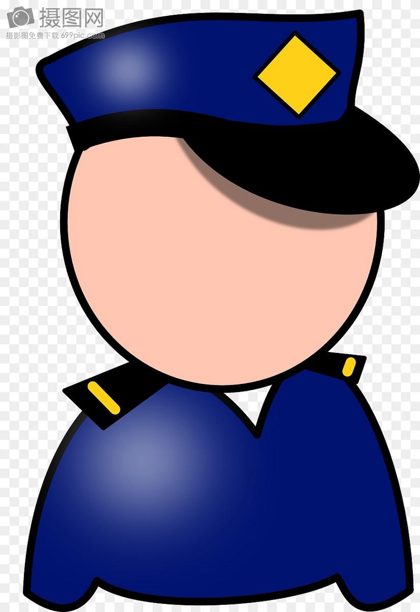 警务人员卡通形象