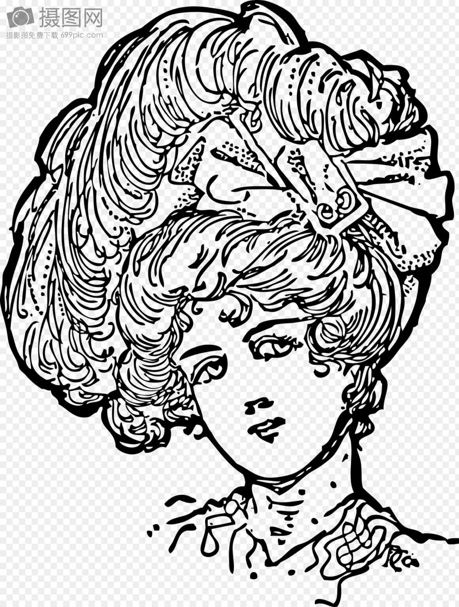 长发女子头像图片素材_免费下载_svg图片格式_高清_摄