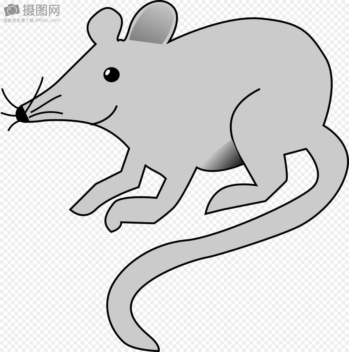 手绘老鼠背景图