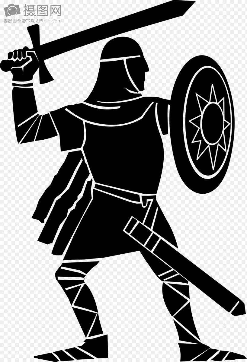 盾牌战士简笔画