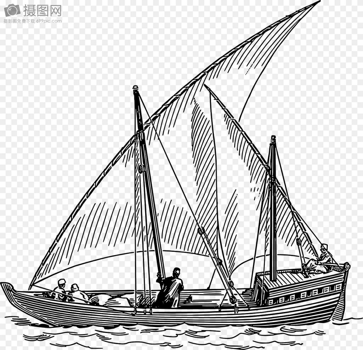 帆船图片简笔画图片