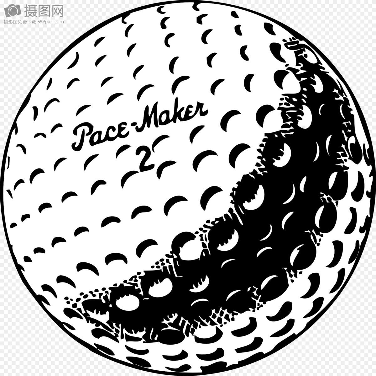 黑白相间的高尔夫球