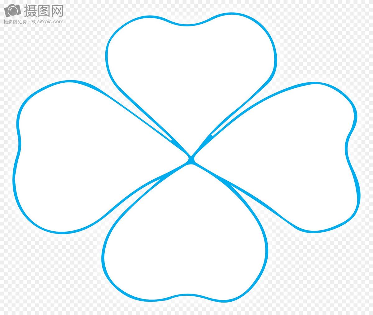 四叶草蓝色边框