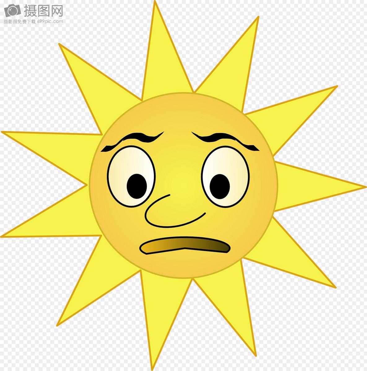 撇嘴的太阳