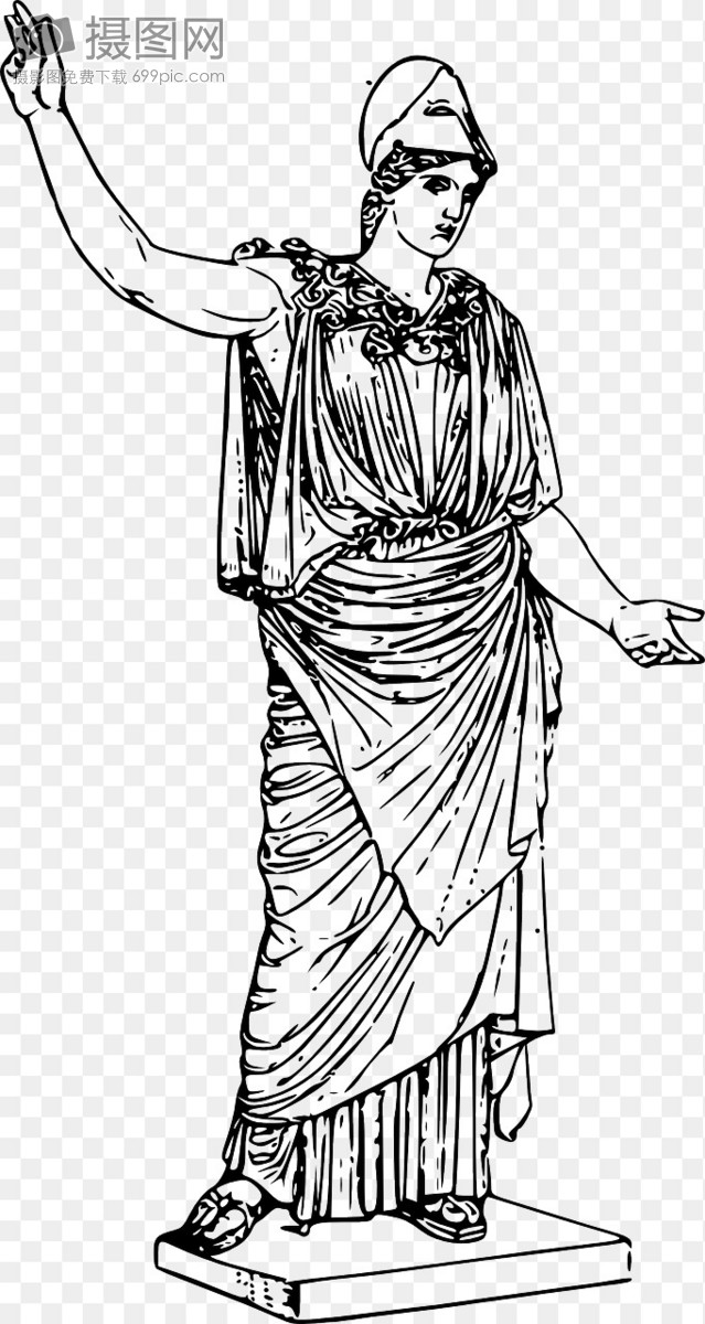 雅典娜雕塑图片