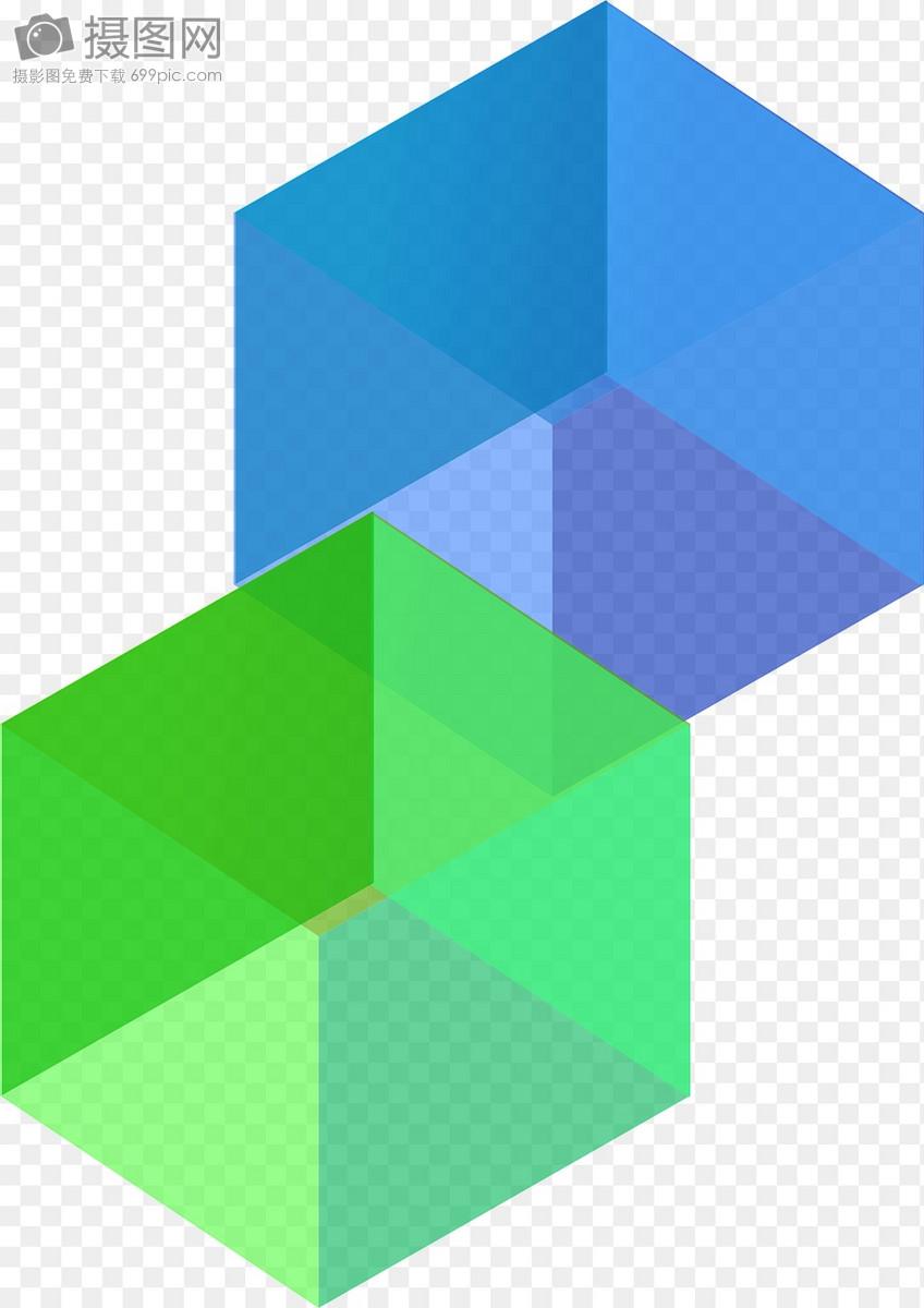 水晶透视立方体