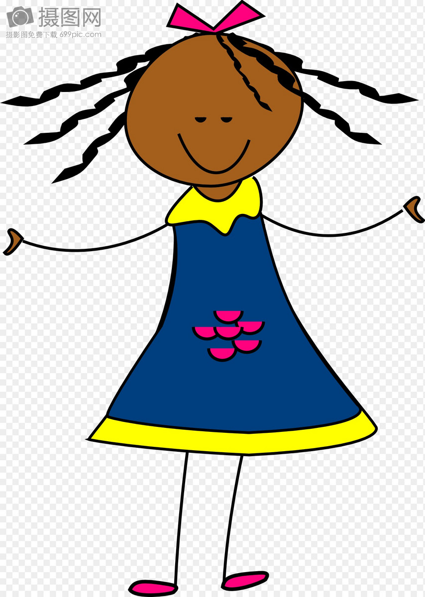 快乐的女孩图片素材_免费下载_svg图片格式_高清图片