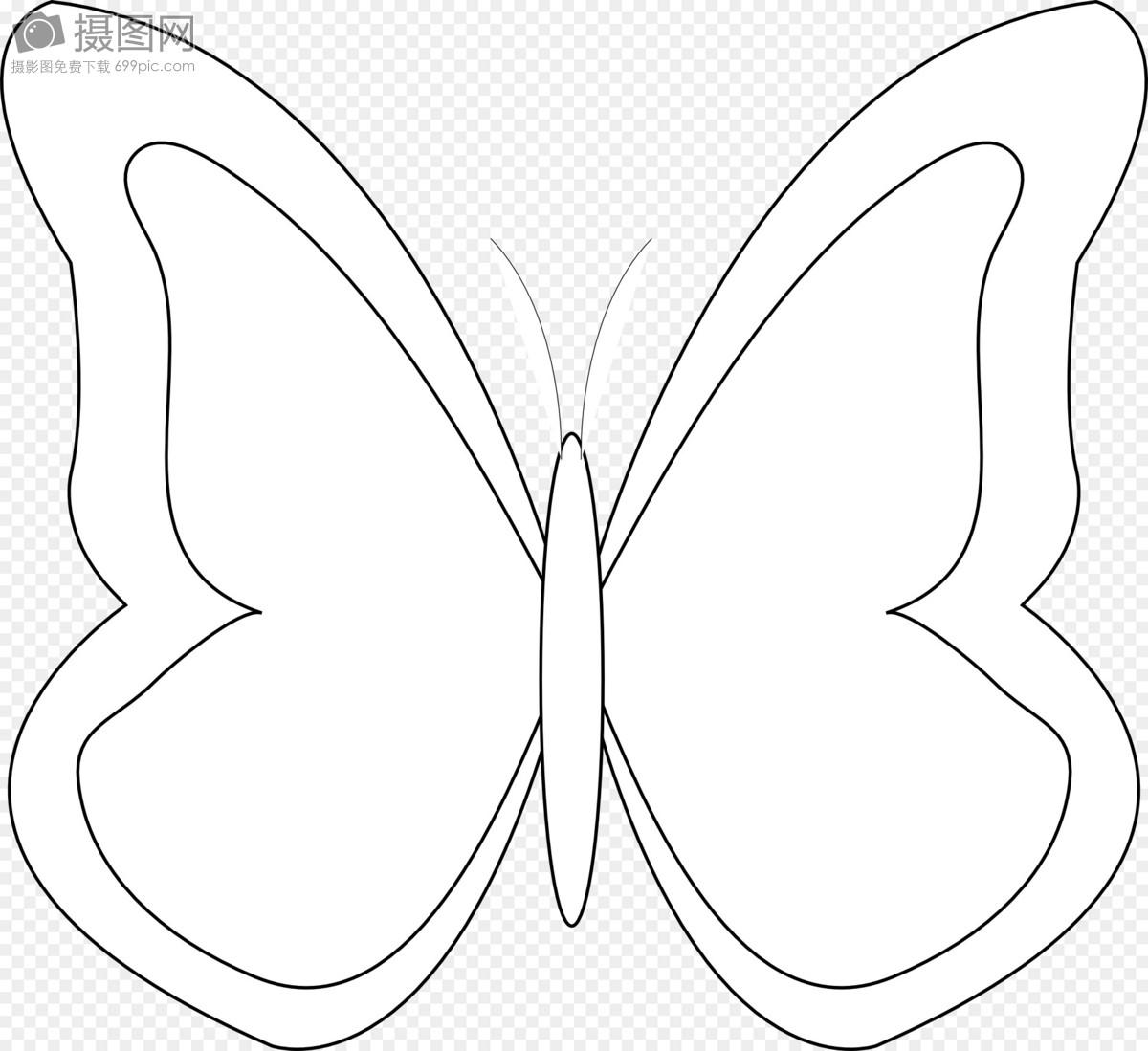 蝴蝶的简笔画