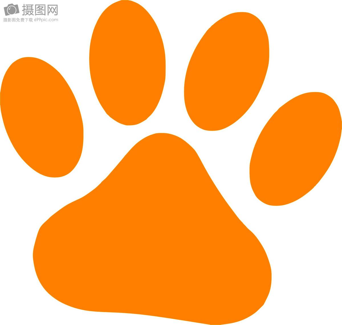 标签: 爪子猫橙色脚印动物狗跟踪免费亚博手机版登录免费插画免费图片爪子