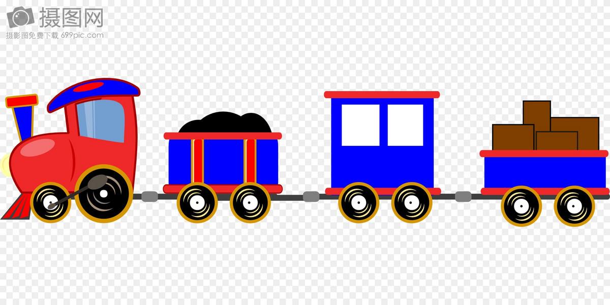 手绘的动画火车