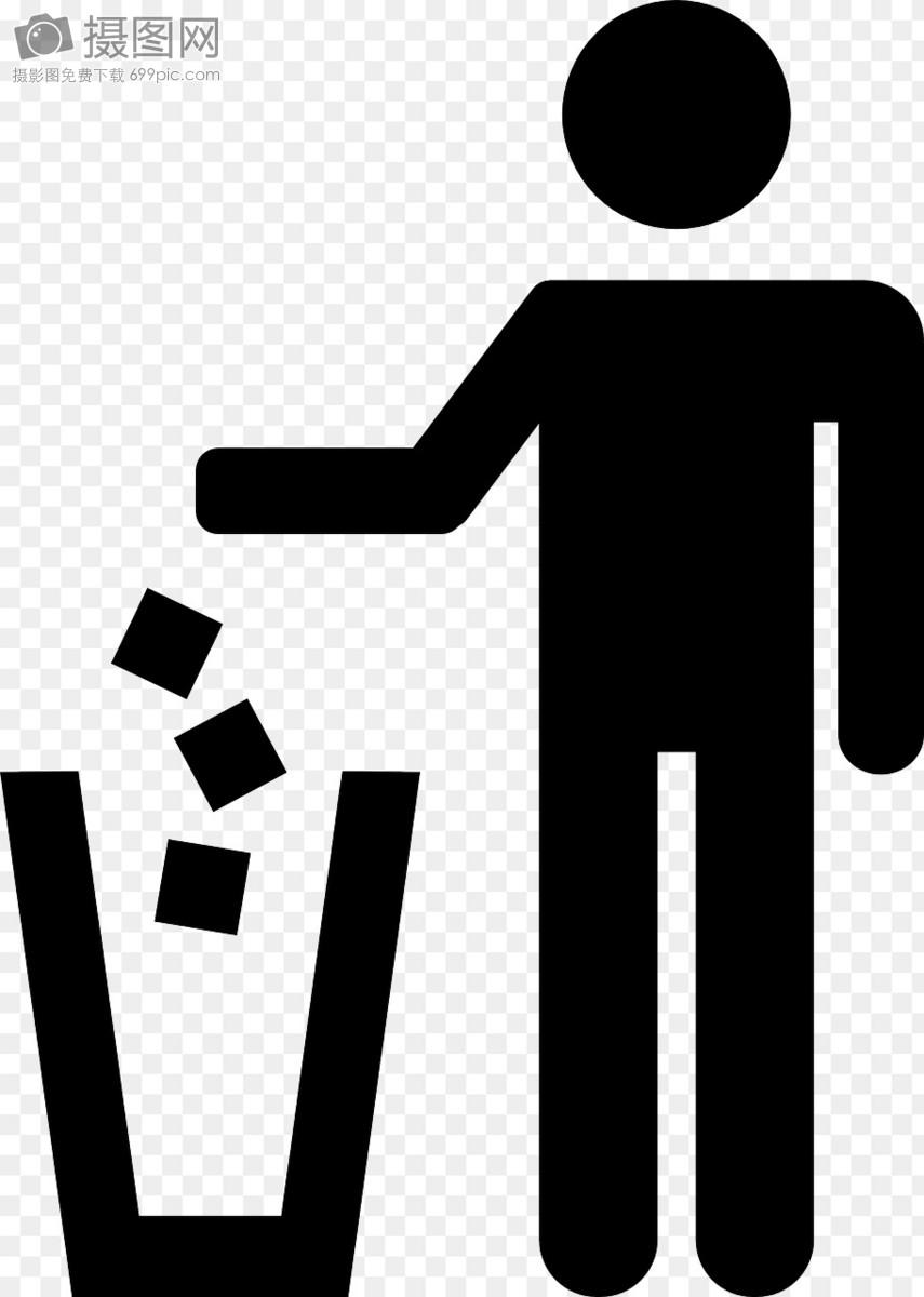 垃圾桶标识图片