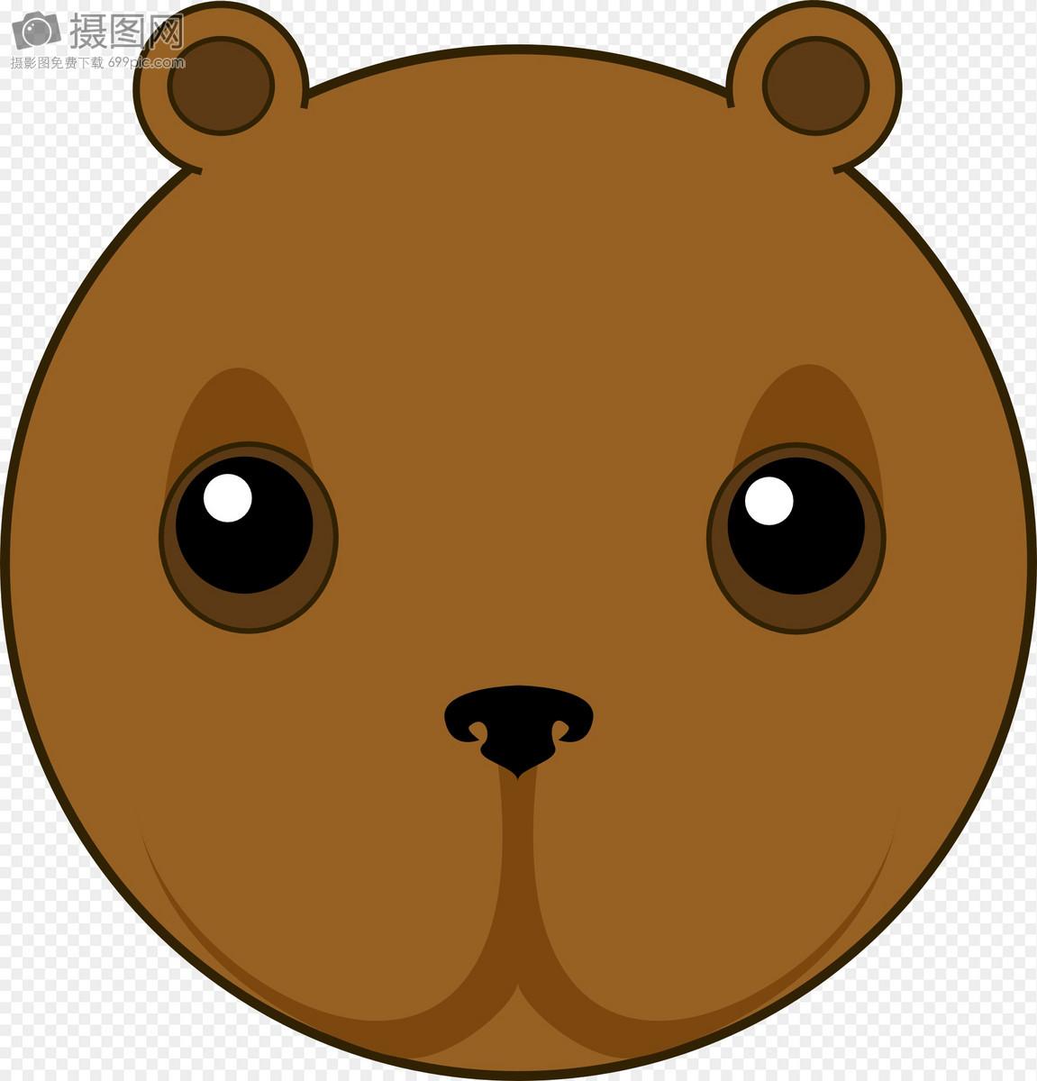 可爱的熊头图片