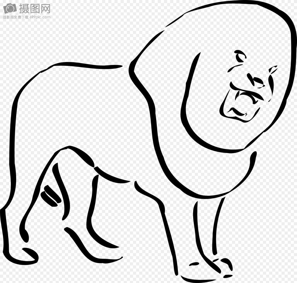 狮子简笔画摄影图片照片免费下载