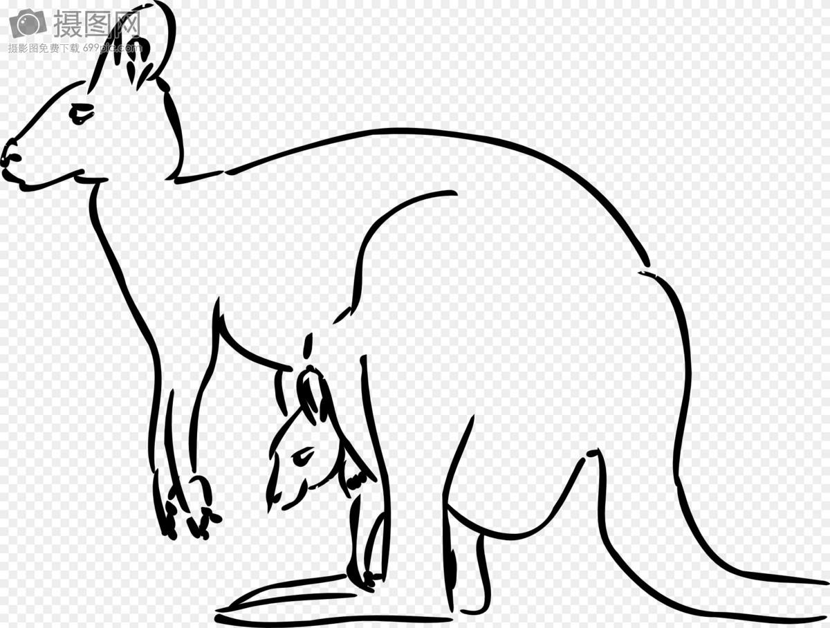 袋鼠简笔画