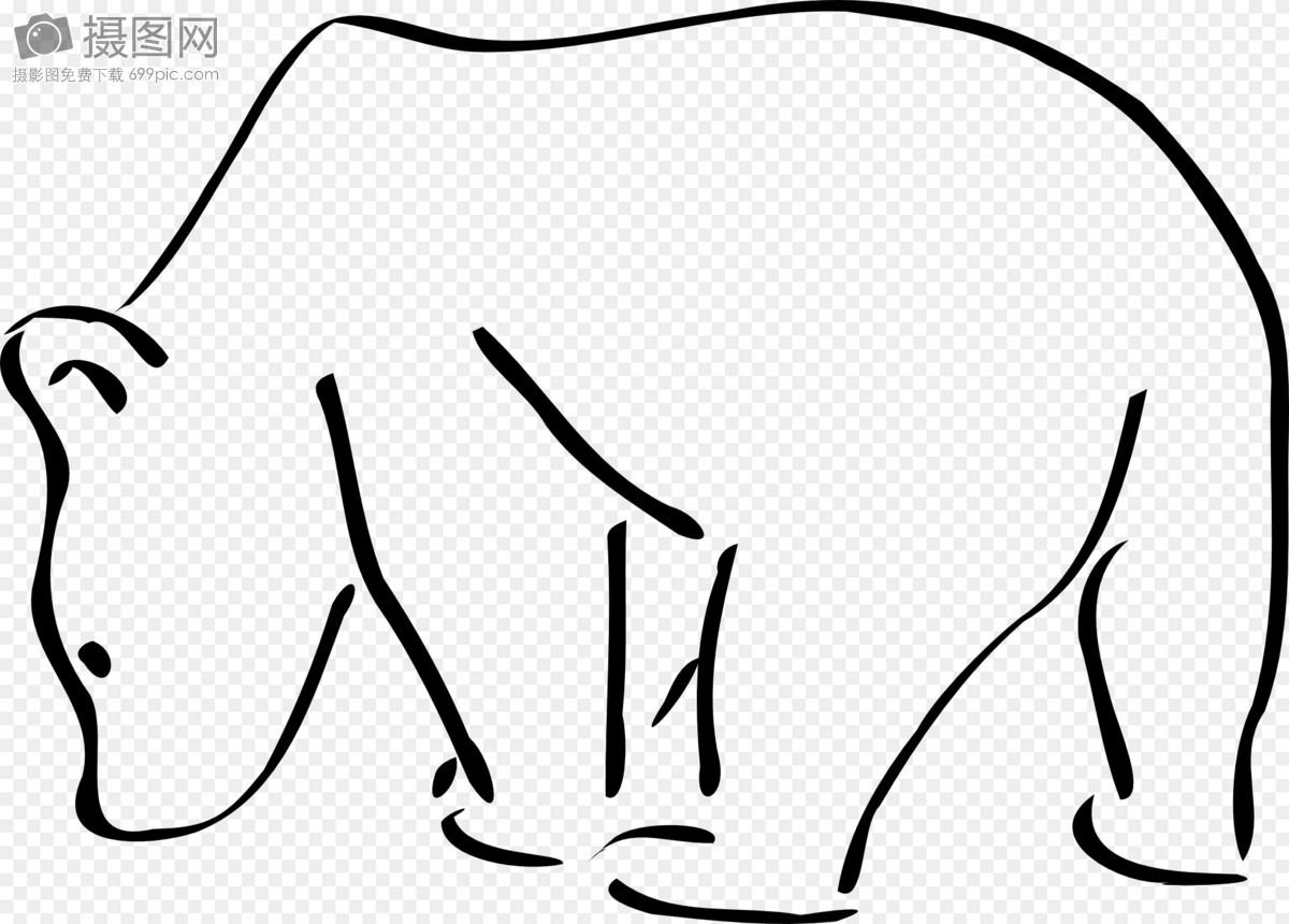 标签: 北极熊觅食简笔画野生动物自然北极