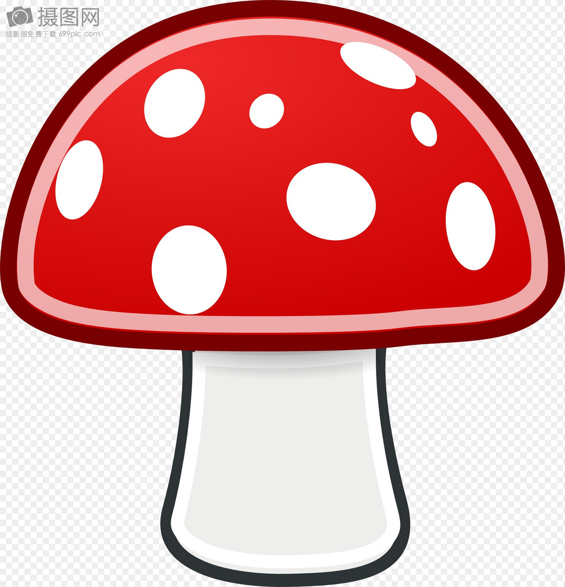 卡通可爱红色小蘑菇