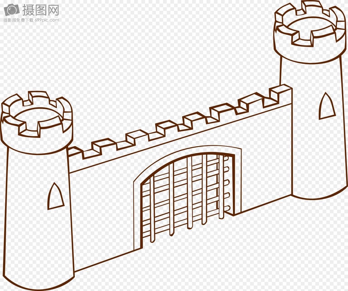 古代城堡城门