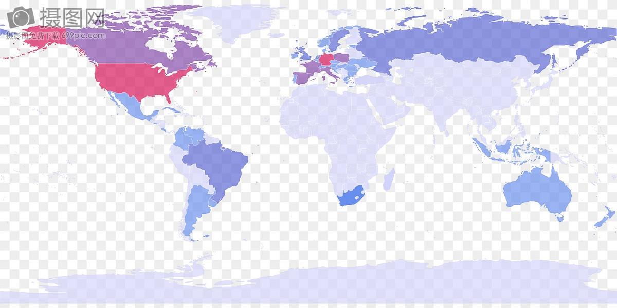 平面世界地图简图