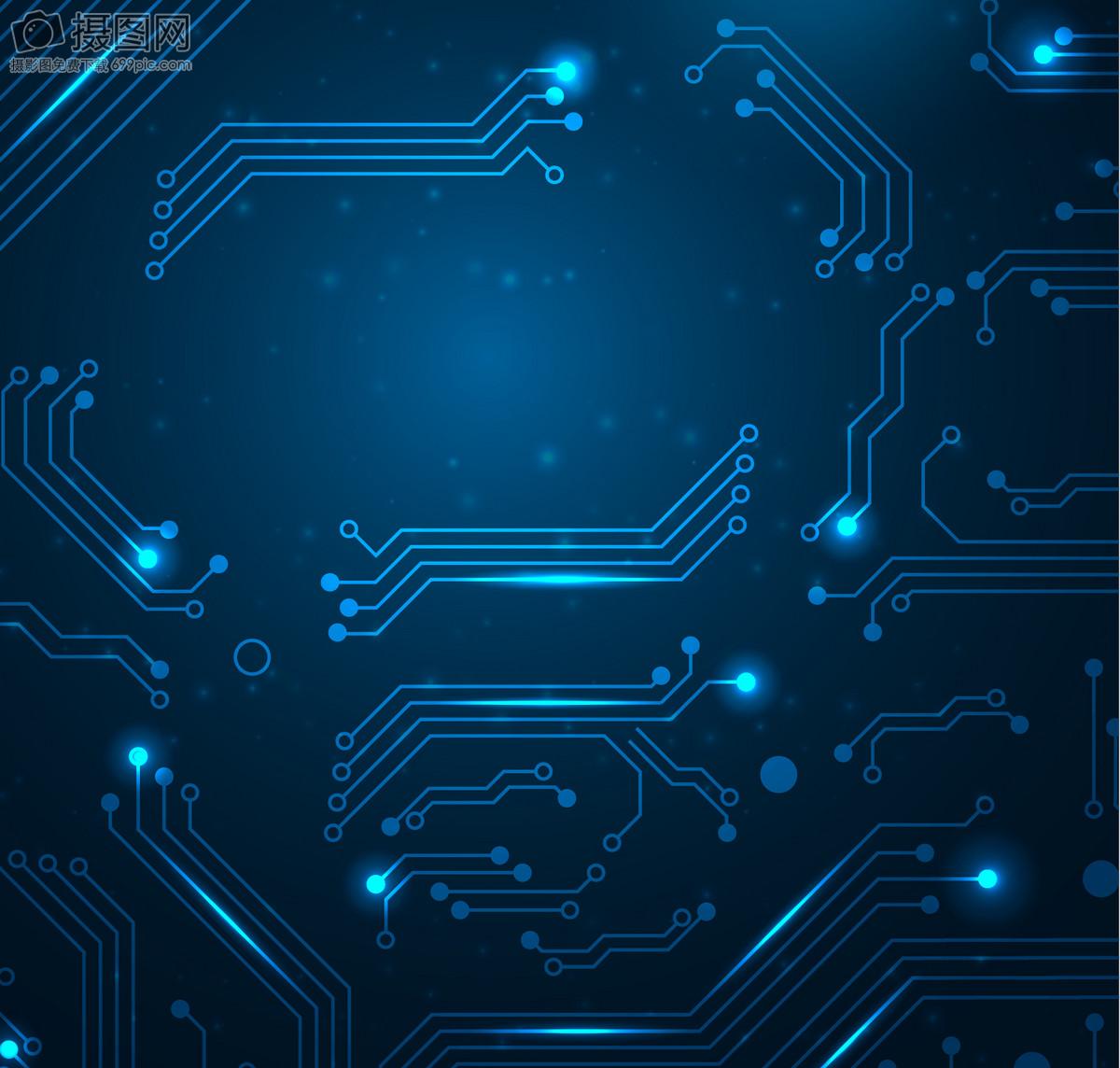 蓝色 电路 科技 背景 设计 纹理