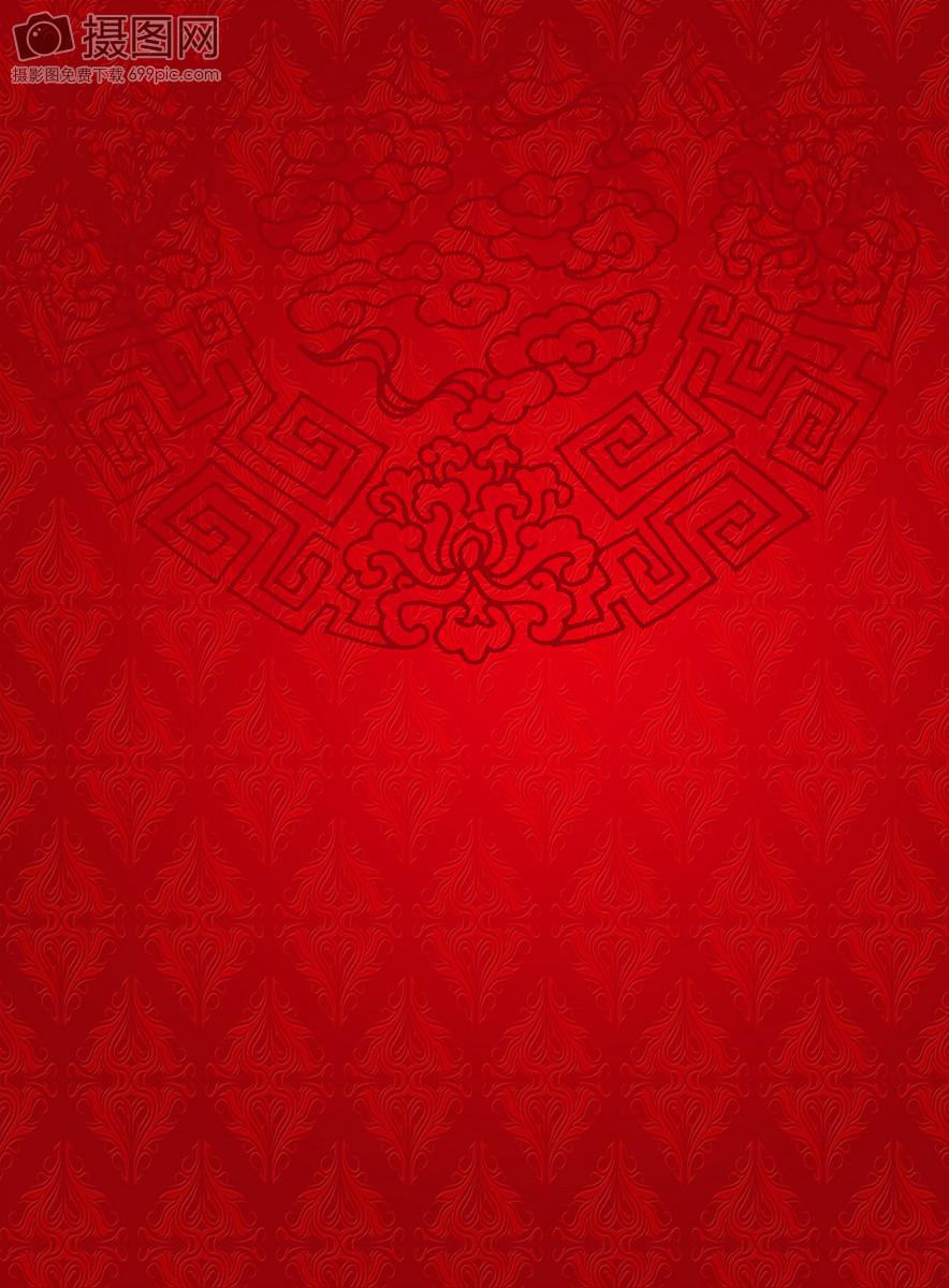 红色中国风底纹背景