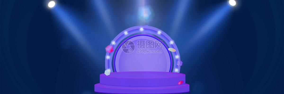 淘宝促销舞台背景模板下载图片