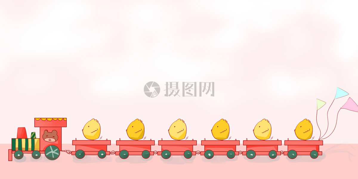 卡通运输小火车