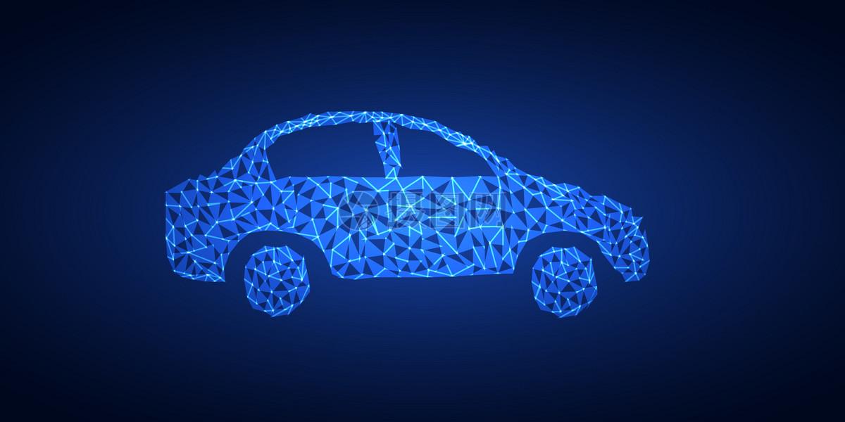 矢量晶格化汽车素材