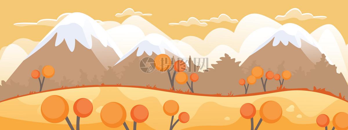 卡通矢量秋天森林背景图片素材_免费下载_cdr图片格式_vrf高清图片