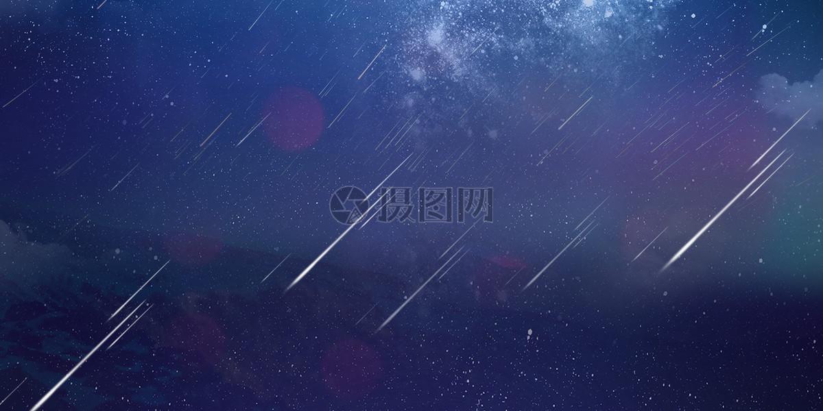 星空背景之流星雨图片素材_免费下载_psd图片格式_vrf