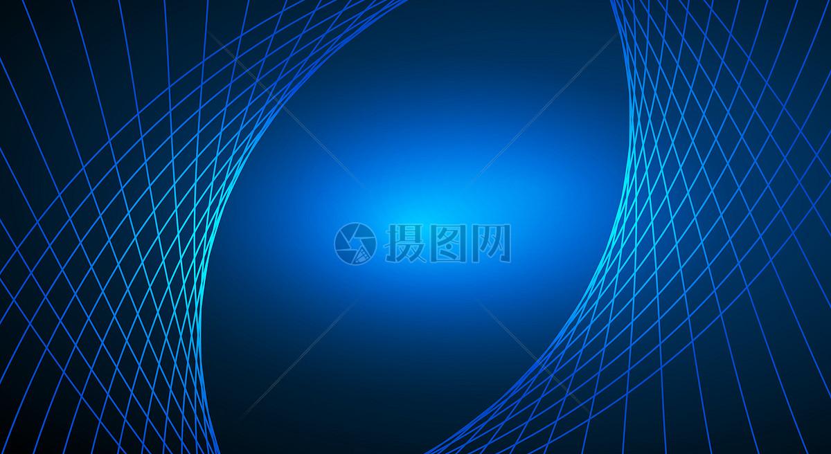 蓝色简单科技线条背景