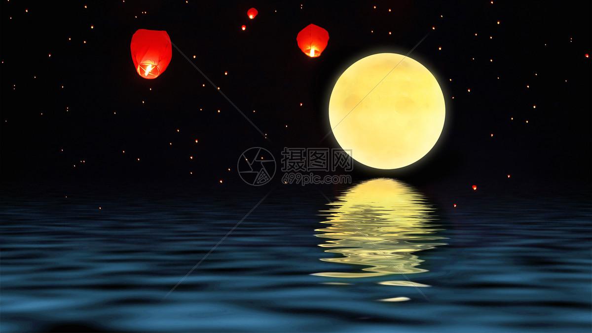 中秋月亮背景图片