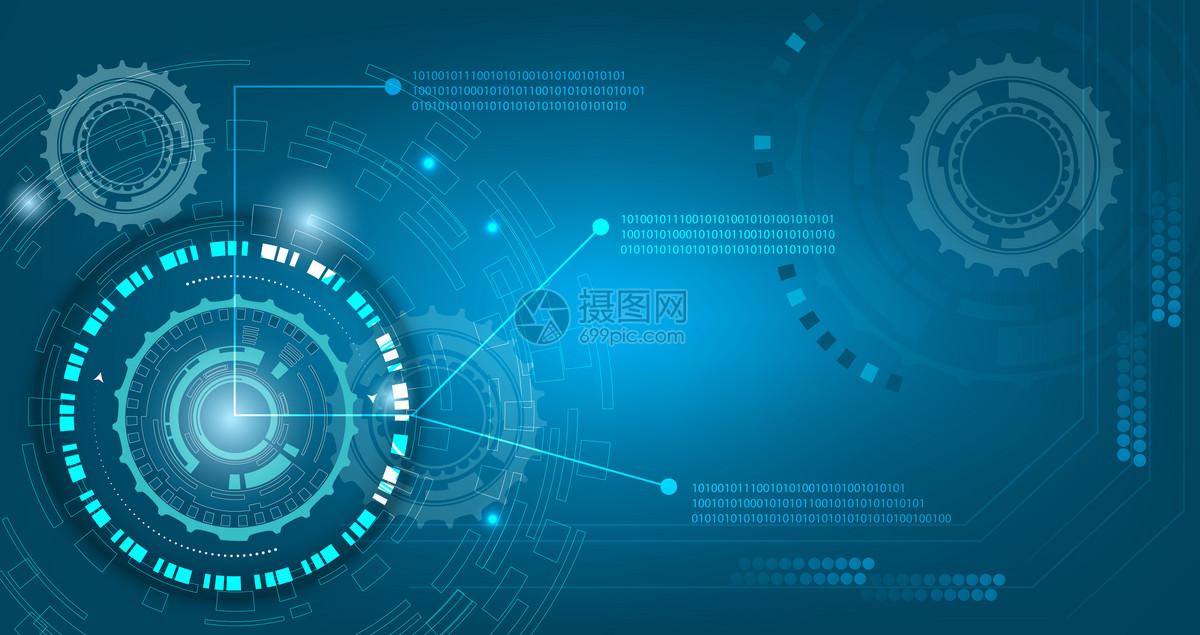 蓝色线条数字化科技背景图片素材_免费下载_ai图片