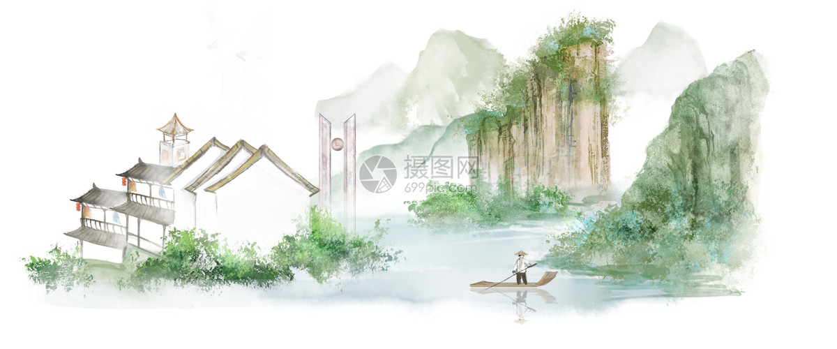 矢量山水画