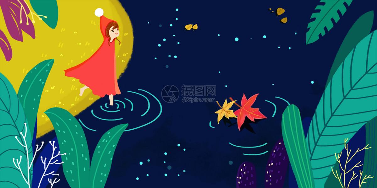 女孩手绘插画psd  分享: qq好友 微信朋友圈 qq空间 新浪微博  花瓣